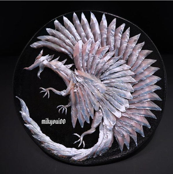 タチウオで作った【ドラゴン】。制作&写真/mikyou