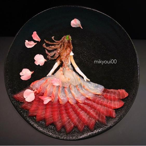 【プリンセス】髪の毛は鯛の皮の湯引き!制作&写真/mikyou