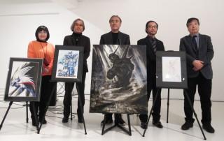 """一番大きなキャンバスが、油絵で描いた""""ゴヤ風""""『機動戦士ガンダム』"""