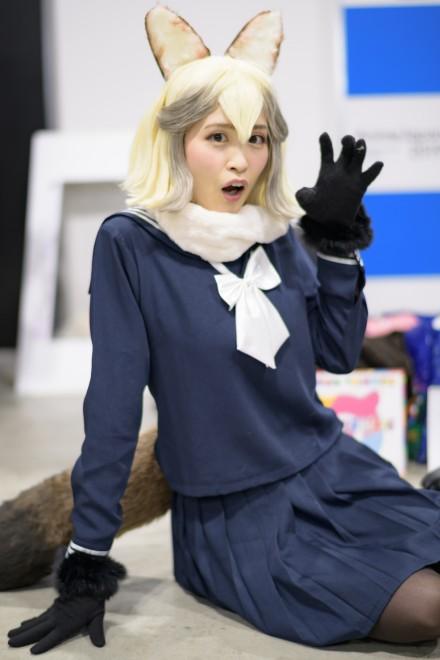 『アニメジャパン2019』コスプレイヤー・eriさん<br>(『けものフレンズ(舞台版)』たぬき)