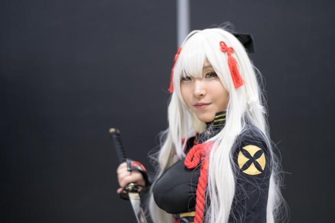 『アニメジャパン2019』コスプレイヤー・のりしおさん<br>(『FGO』沖田総司(オルタ))