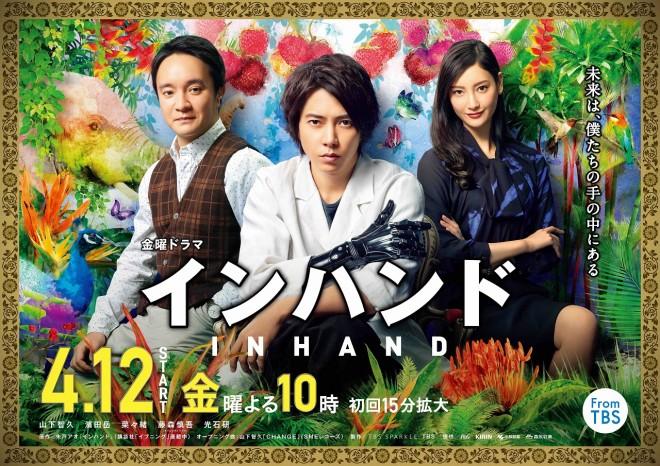19年春ドラマ期待度ランキング4位を獲得した、金曜ドラマ『インハンド』 (C)TBS