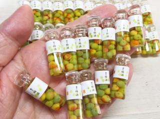 米粒より小さい梅を詰め込んだ梅酒。制作&写真/こるは