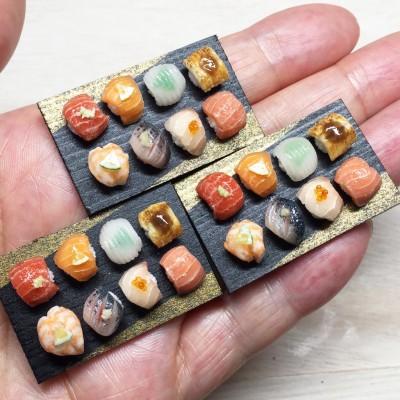 ご自身お気に入りの寿司シリーズ。制作&写真/こるは