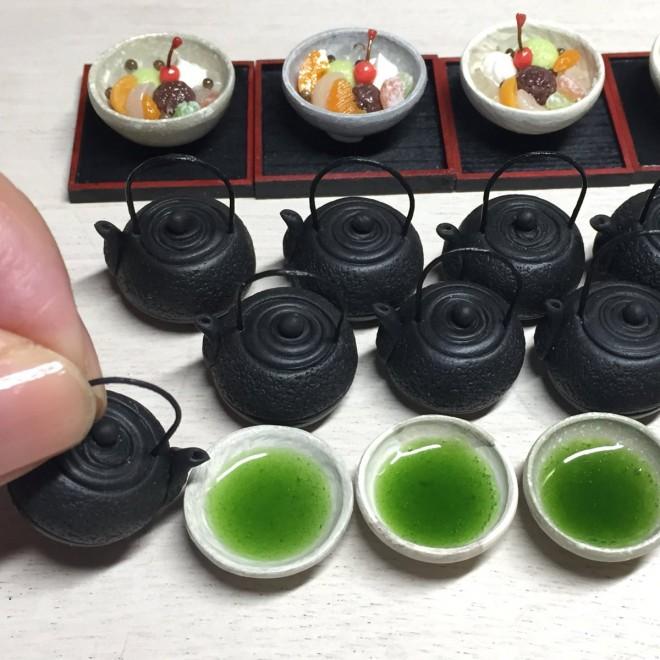 【あんみつとお茶】制作&写真/こるは