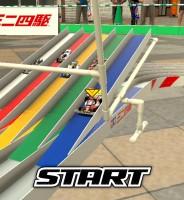「ミニ四駆」アプリ ゲーム画面