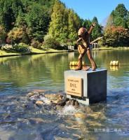 鯉のロカビリー歌手が演奏するたびに本物の鯉が寄ってくる KoiのRock'n'Roller 写真提供:現代美術二等兵
