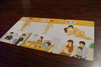 【ぱんつの教室】が制作した、性教育カード。「オス」「メス」「交尾(性交)」の3種を揃えて「受精!!」と叫ぶカードゲーム。