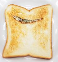 【『いりこ』トースト】制作&写真/Azusa