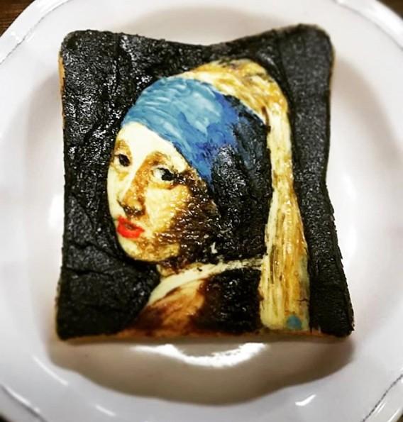 【『真珠の耳飾りの少女』トースト】制作&写真/Azusa