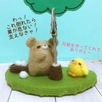 クマさんとヒヨコさんのメモスタンド