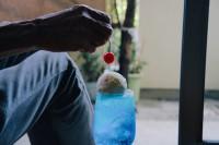 大好きな祖父母に作ったクリームソーダ