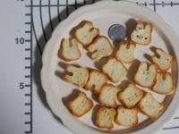 「うさぎさんトーストにたくさんのご反応していただきとっても嬉しいです 今日も少し焼きましたよ」