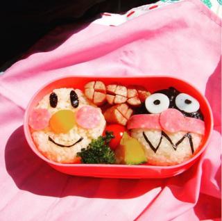 姉妹が幼いころに作ったキャラ弁。制作&写真/Takeshi