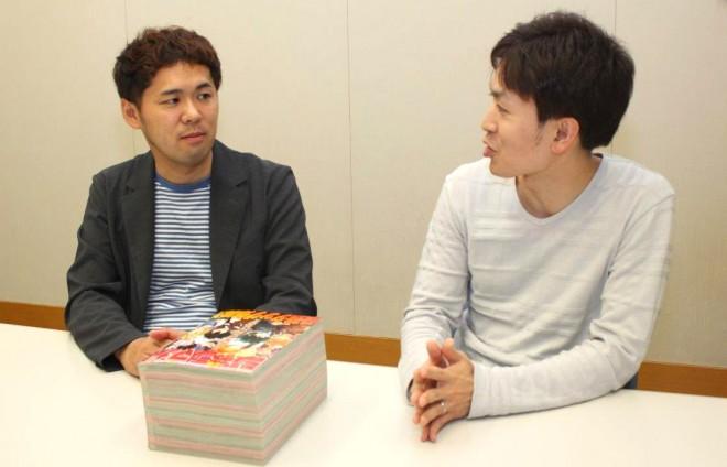 『少年ジャンプ+』編集長の細野修平氏と『マガジンポケット』編集長の橋本脩氏