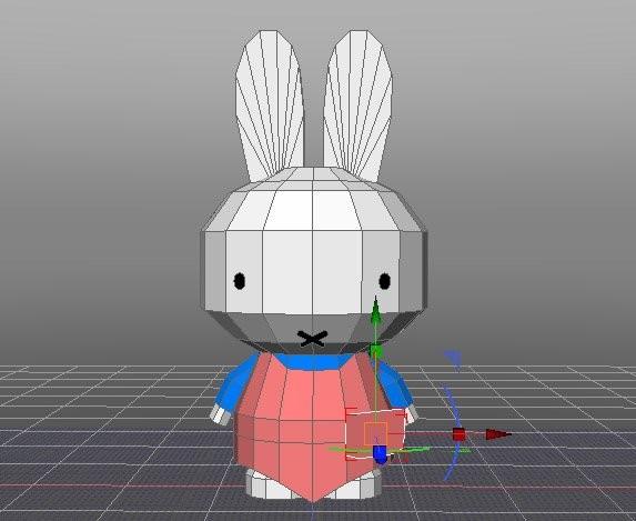 3DCGソフト「Shade」でのモデリング中の画面