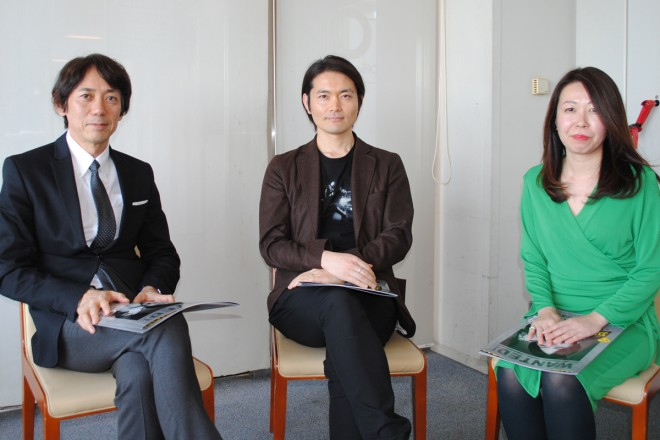 左からフジテレビ・大多亮氏、脚本家・古沢良太氏、テレビ業界ジャーナリスト・長谷川朋子氏