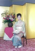 プライベートの写真。日本舞踊のお名取式にて