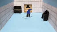 枕井さんの自信作、磁石でくるくる踊るジャミロクワイ人形