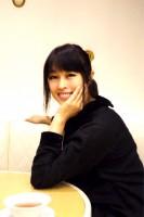 現在、インタビューを受ける宇徳敬子