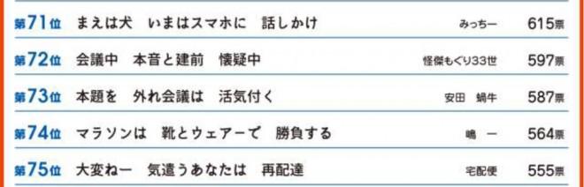 第32回サラリーマン川柳コンクール 第71-75位