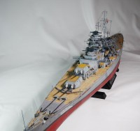 作品:1/350ドイツ海軍戦艦「ビスマルク」/制作:海志