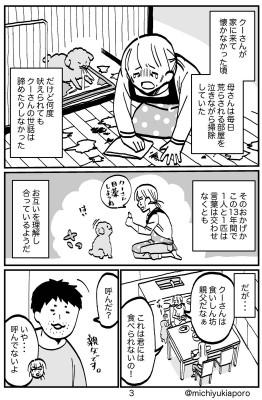 道雪さんのご家族は、言うことを聞かないクーさんのしつけを熱心に続けたという(画像提供:道雪葵さん)