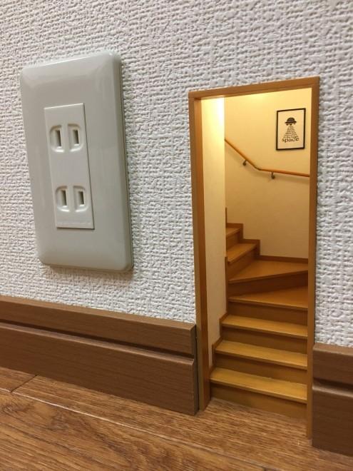 「小人の階段。すべて手作りで制作期間は4ヶ月」制作・写真/Mozu