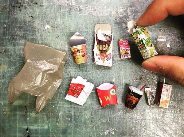 お菓子のミニチュア。制作・写真/Mozu