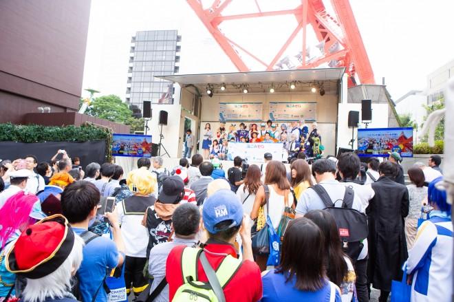 『コスプレde海ごみゼロ大作戦!in東京タワー』の様子