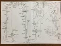 再現シリーズを作る前に書かれる配線図、毎回この作業からスタートするそう