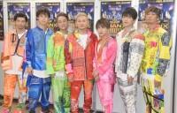 (左から)U-YEAH、YORI、KIMI、ISSA、DAICHI、KENZO、TOMO=『LIVE DA PUMP 2019 THANX!!!!!!! FINAL』公演前囲み取材より(C)ORICON NewS inc.