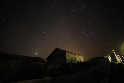 無数の星が輝く利尻島の夜空