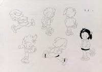 「じゃリン子チエ」キャラクター設定画(複製)(C)はるき悦巳/家内工業舎・TMS=『高畑勲展─日本のアニメーションに遺したもの』東京国立近代美術館で開催中(7月2日〜10月6日)