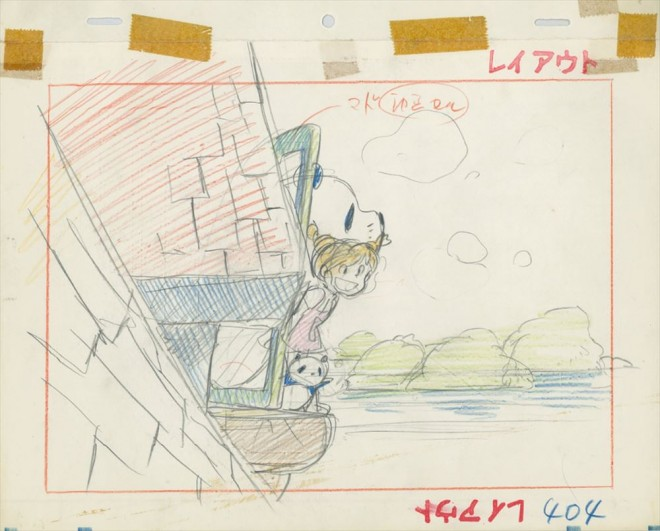 「パンダコパンダ」レイアウト画 (C)TMS=『高畑勲展─日本のアニメーションに遺したもの』東京国立近代美術館で開催中(7月2日〜10月6日)