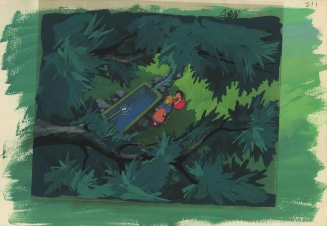 「アルプスの少女ハイジ」セル付き背景画(C)ZUIYO「アルプスの少女ハイジ」公式ホームページhttp://www.heidi.ne.jp/=『高畑勲展─日本のアニメーションに遺したもの』東京国立近代美術館で開催中(7月2日〜10月6日)
