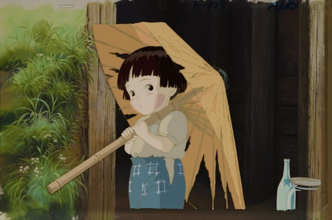 「火垂るの墓」セル付き背景画(C)野坂昭如/新潮社,1988=『高畑勲展─日本のアニメーションに遺したもの』東京国立近代美術館で開催中(7月2日〜10月6日)