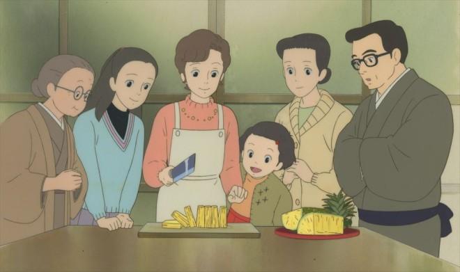 「おもひでぽろぽろ」セル付き背景画(C)1991 岡本螢・刀根夕子・Studio Ghibli・NH=『高畑勲展─日本のアニメーションに遺したもの』東京国立近代美術館で開催中(7月2日〜10月6日)