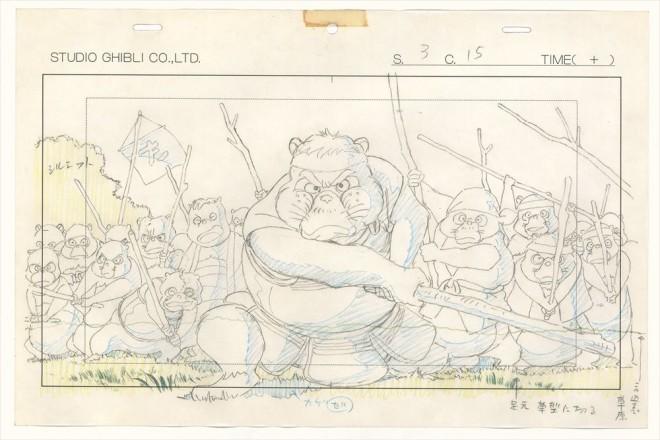 「平成狸合戦ぽんぽこ」レイアウト画(C)1994 畑事務所・Studio Ghibli・NH=『高畑勲展─日本のアニメーションに遺したもの』東京国立近代美術館で開催中(7月2日〜10月6日)