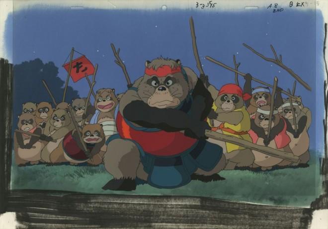 「平成狸合戦ぽんぽこ」セル付き背景画(C)1994 畑事務所・Studio Ghibli・NH=『高畑勲展─日本のアニメーションに遺したもの』東京国立近代美術館で開催中(7月2日〜10月6日)