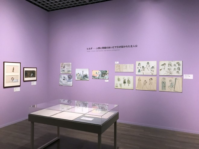 『太陽の王子 ホルスの大冒険』の展示コーナー(C)東映=『高畑勲展─日本のアニメーションに遺したもの』東京国立近代美術館で開催中(7月2日〜10月6日)