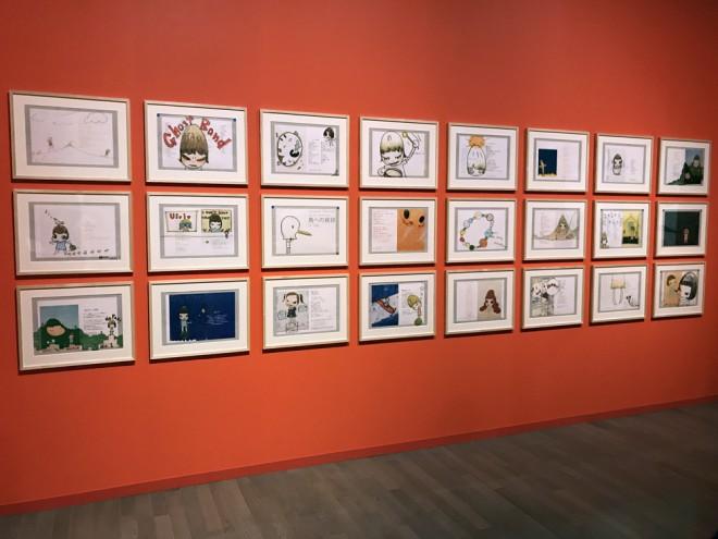 奈良美智のドローイング作品《鳥への挨拶》24点(C)YOSHITOMO NARA 2006=『高畑勲展─日本のアニメーションに遺したもの』東京国立近代美術館で開催中(7月2日〜10月6日)