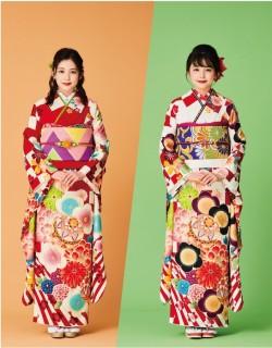 振袖・着物専門『やしまグループ』の新CMで、自身がデザインした振袖を着る久間田琳加