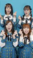 「#あわあわダンス」を踊るSKE48(上段左から時計回り)日高優月、竹内彩姫、高柳明音、松井珠理奈