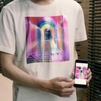 スマホで柄を変える最先端のTシャツIoTシャツ(キャプチャ画像)