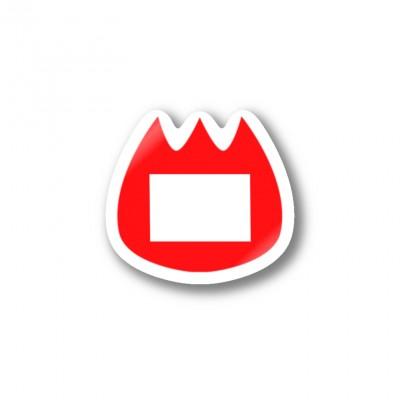 豆腐オンファイヤーのステッカー
