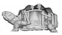 より自然な動きを再現するため、カメの骨格構造を再現した内部