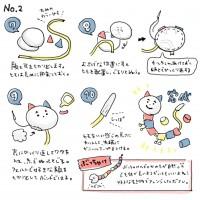 『体の長いネコさん』の作り方(制作・写真:むーさん)