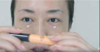 目の周りの赤身を押さえるコントロールカラーベースをON