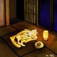 #睡眠用うどんが来た日 #その晩、ねこは…